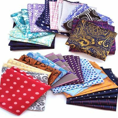 LOT Wholesale Men's Hanky Pocket Square Silk Handkerchief Floral Chest Tower