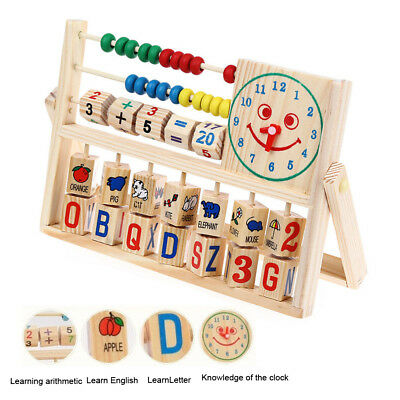 Kids Boy Girl Baby Learning Early Educational Development Abacus Wooden Toys #AC