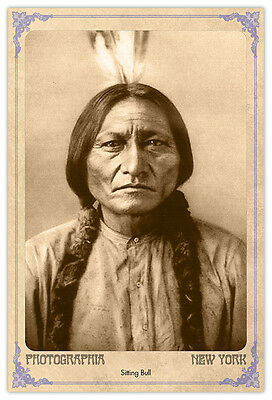 Old West Legend Sitting Bull Photograph A++ Reprint Cabinet Card CDV
