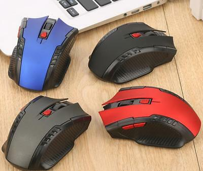2.4Ghz Mini Wireless Red Optical Gaming Mouse Mice& USB Receiver For PC Laptop