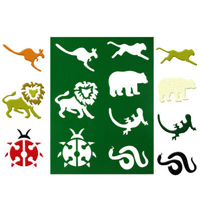 animal layering stencils spray template diy wall drawing scrapbook card decorFT