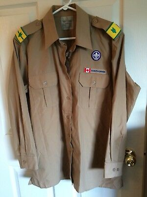 Scouts Canada Adults L-Reg Shirt With Badges