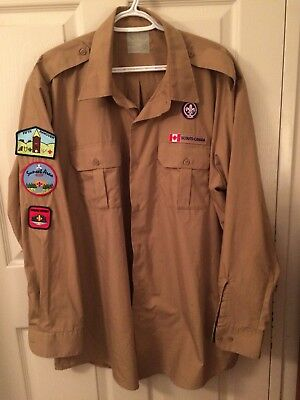 Scouts Canada Adults 2XL Reg Shirt With Badges