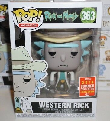 Funko Pop Western Rick #363 Rick and Morty SDCC Shared Exclusive Brand New