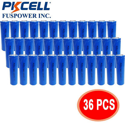 36x ICR18650 Li-ion Rechargeable Batteries 2200mAh 3.7V PKCELL least 500cycles