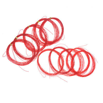 5x 7m red fishing line for explosion hook tied hook diy 0.5/0.7mm anti winding X