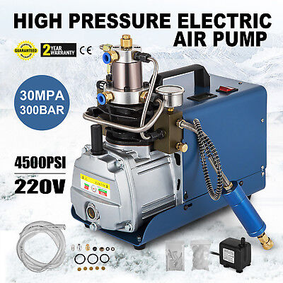 PCP 300bar 30Mpa 4500psi Electric Air Pump High Pressure Aintball Air Compressor