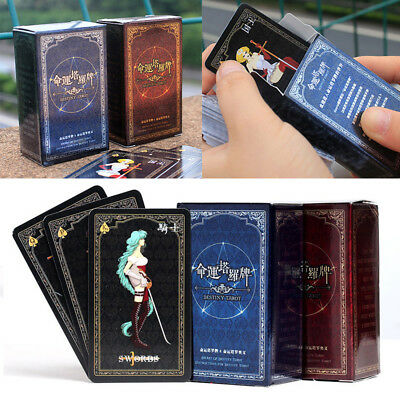 72Pcs Destiny Tarot Cards Fortune Telling Cards Table Party Games Card Toys