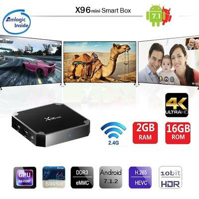 X96mini Smart Android 7.1.2 TV Box 2GB/16GB Amlogic S905W QuadCore H.265 HD Q7A7