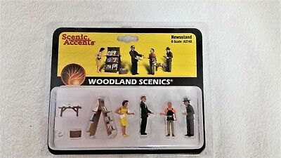 Model Railroad Set of Figurines from Woodland Scenics O Scale