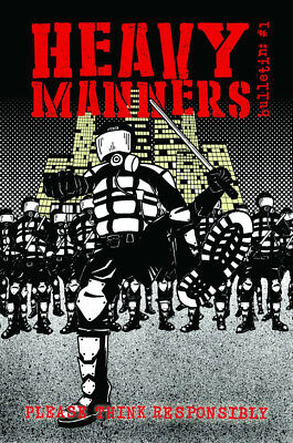 Heavy Manners Bulletin One Comic (UK Small Press Politics/Social Justice)