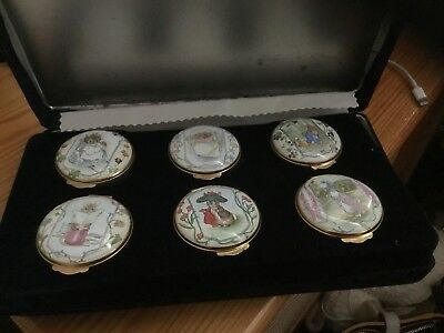 Crummles Rare Full Set  Trinket Box Tailor of Gloucester 1992 Doulton