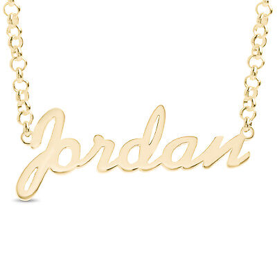 5c8b52818facf JORDAN NAME NECKLACE Gold Rose Gold Plated Sterling Silver Pendant Nameplate