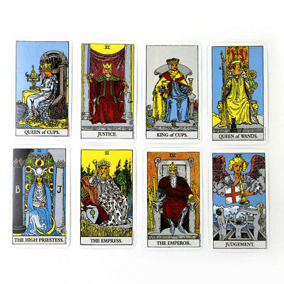 78pcs English Rider Waite Tarot Deck Beginners Enthusiasts Craft Gift Games Card