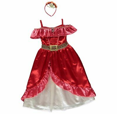 New George Disney Elena of Avalor Kids Girls Fancy Dress Outfit Costume (p9A)