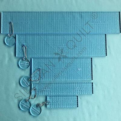 Template for quilting - Ruler straight line set 4 tempaltes