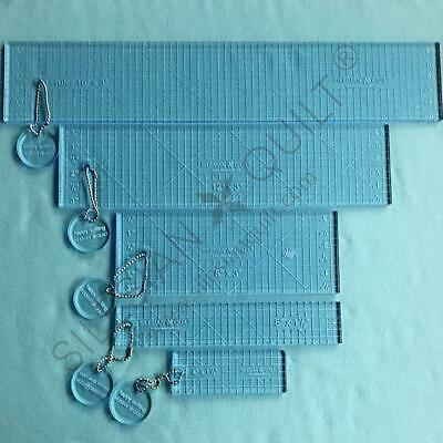 Template for quilting - Ruler straight line - set 4 templates