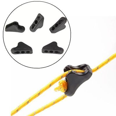 20 Triangle Guy Line Rope Tightner Runner Anti-slip Camping Tent Tensioner S/M/L