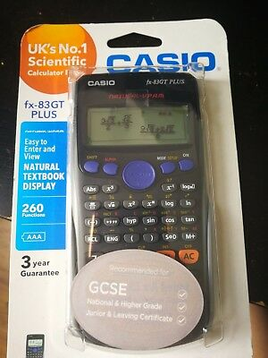 Casio FX-83GT Plus Scientific Calculator 260 Functions