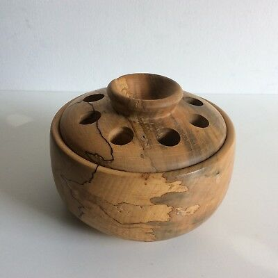 Keith Beck, Rochestown, Co Wexford / Spalted Beech Wood bowl and lid, 1991