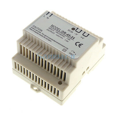 45W Output 24VDC 2A Din Rail Mounted Industrical Switch Power Supply Supplier