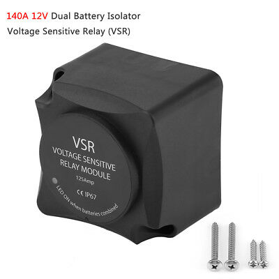140A 12V Voltage Sensitive Relay VSR Automatic Charge Dual Battery Isolator IP67