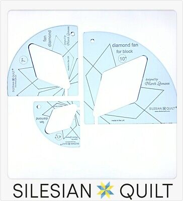 Template for quilting - Fan Diamond Set 3 templates