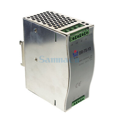 75W LED Din Rail Mounted 12VDC 6.3A Output Industrical Switching Power Supply