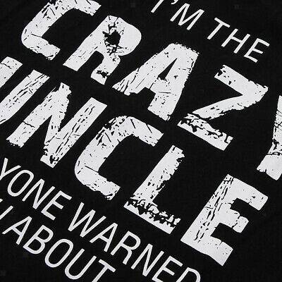 Prettyia I'm The Crazy Uncle Mens Personalised Funny Letter Print T-Shirt