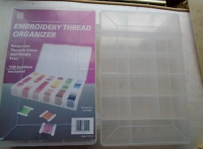 2 x Embroidery/Cross Stitch Threads Organiser Boxes (2)
