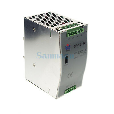 120W LED Din Rail Mounted 24VDC 5A Output Industrical Switching Power Supply
