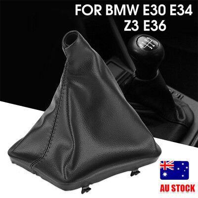 Car Gear Stick Shift Knob Gaiter Boot Cover for BMW E30 E34 E36 E46 Z3 Black