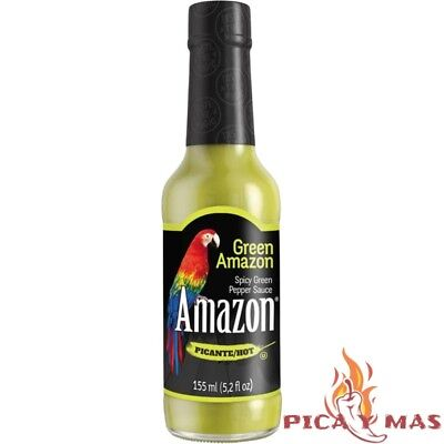 Amazon Salsa Verde Picante Importacion Colombia Botella 155Ml