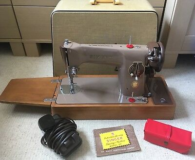 Vintage 1950's Singer 201k Heavy Duty Electric Sewing Machine - Can Sew Leather