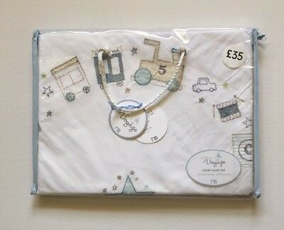 Mothercare Cot Bed Duvet Cover And Pillowcase Set Little Voyage New With Tags
