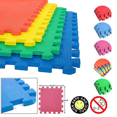 30cm Interlocking Puzzle Mat Soft EVA Foam Tiles Kids Play Carpet Home Floor UK