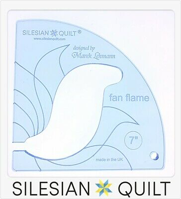 Template for quilting - Fan Flame 7 inches