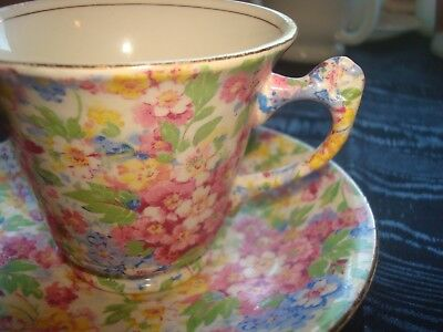 Vintage  James Kent Chintz Cup and Saucer