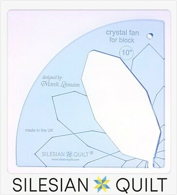 Template for quilting - Fan Crystal 10 inches