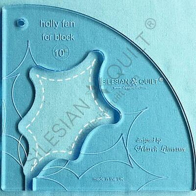 Template for quilting - Fan Holly 10 inches