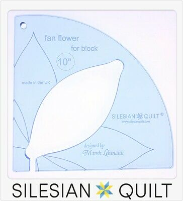 Template for quilting - Fan Flower 10 inches