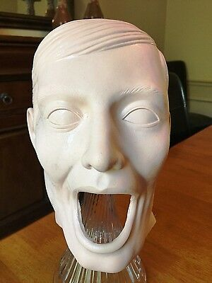 Vtg Dental Gingiva Dentoform Manikin Head Skin Mask Mannequin Fletcher Plassein