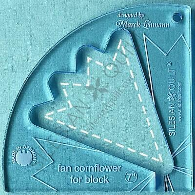 Template for quilting - Fan Cornflower 7 inches