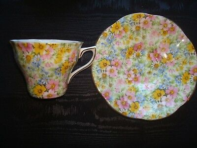Vintage  Rosina Chintz Cup Saucer