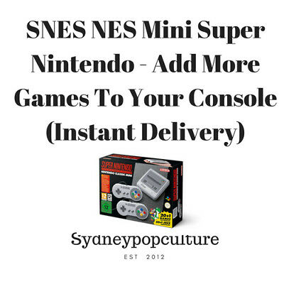 SNES NES Mini Super Nintendo - Add More Games To Your Console- Instant Delivery