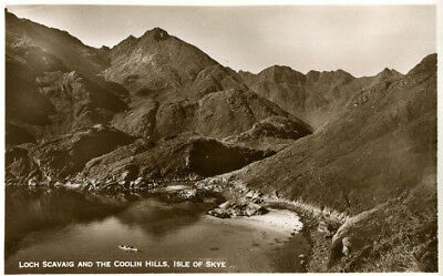 1930s postcard Loch Scavaig and the Coolin Hills ISLE OF SKYE