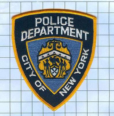 Police Patch - New York -City Gold Border