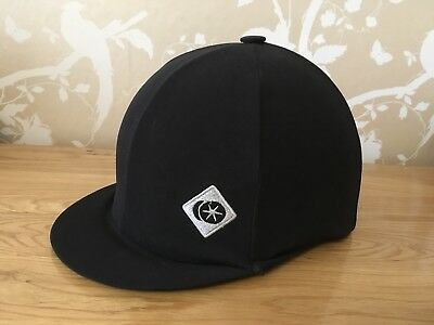 CHARLES OWEN COMPETITOR SKULL RIDING HAT & COVER - BLACK SIZE 54cm - 6/58 -0 1/2
