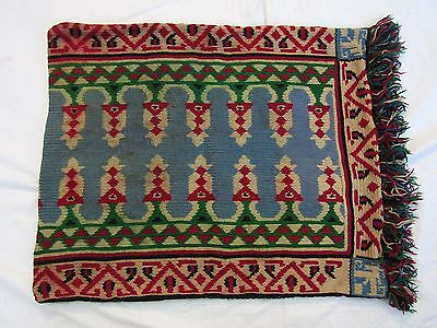 Folk Pillow Case Embroidered Kilim Bulgaria Wool 62/52 Cm Koprivstiza