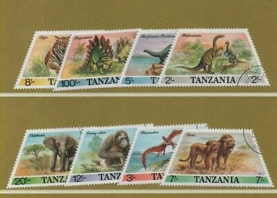 Thematic stamps TANZANIA 1987 DINOSAURS 8v - used